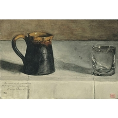 Still life: jug and glass on a table