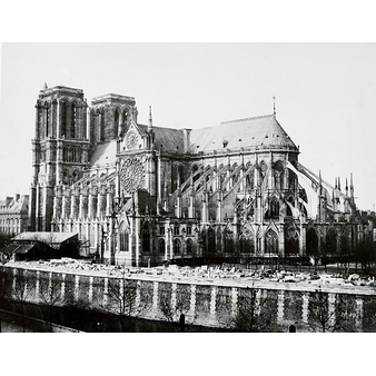 South flank of Notre-Dame Cathedral, Paris circa 1857