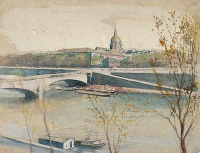Album Des Vues De Paris Le Pont De L Alma Et Le Dome Des
