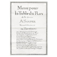"Tea towel ""12 Terrines Menu du Roy"""