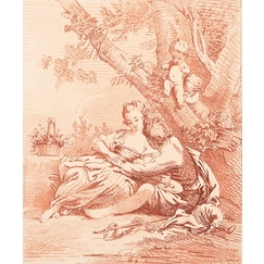 Country Scene - Péquégnot after François Boucher