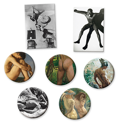 "Magnets of the exhibition ""Masculine / Masculine"""