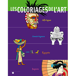 Coloring art Book Africa, Americas, Egypt, Japan