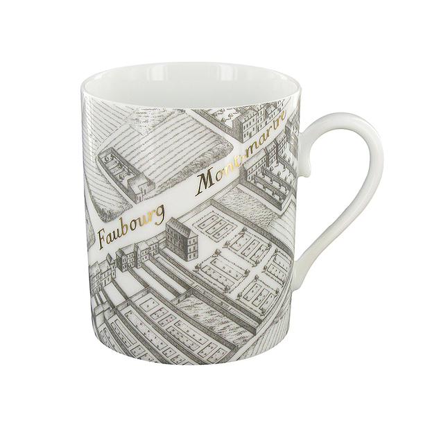 Turgot Map of Paris Mug - Gold