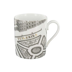 "Mug ""Plan de Turgot"" - Or, Porcelaine"