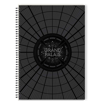 Grand Palais glass roof - Spiral notebook