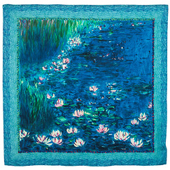 Orangerie Museum Waterlilies Scarf - Green reflections