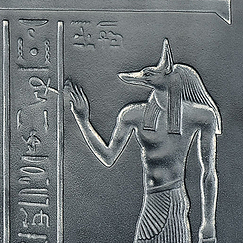The God Anubis proffering life