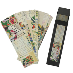 "Box of 16 Bookmarks ""Dit du Genji"" Size 5 x 17 cm"