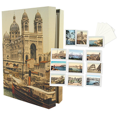 Boxset of 12 greeting cards (14 x 20 cm) with envelopps