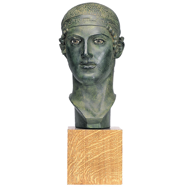Head of a victorious charioteer