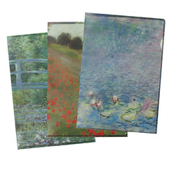 Set of 3 Clear files Monet