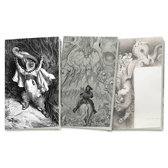 "3 small notebooks ""Gustave Doré"""
