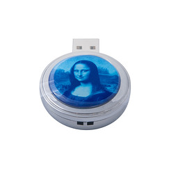 "Blue ""Mona Pop"" USB stick"