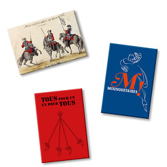 3 magnets Mousquetaires