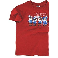 T-shirt Mousquetaires - Rouge