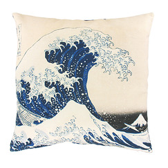 "Hokusai, ""The Great Wave"" Cushion cover"