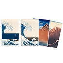 "3 small notebooks ""Hokusai"""