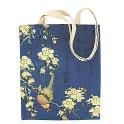 "Hokusai, ""Bullfinch"" Bag"