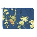 "Hokusai, ""Bullfinch"" Pencil pouch"