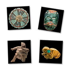 "Lot de 4 magnets ""Mayas"""