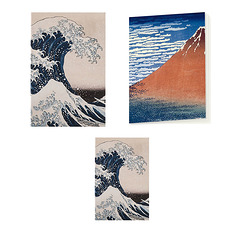 """Hokusai"" Stationery Set"