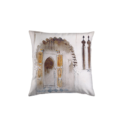 "Delacroix cushion ""Entry of an Arab House"""