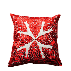 "Cushion ""Broderie de Rabat"" Red"
