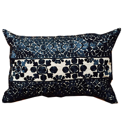 "Cushion ""Broderie de Rabat"" Black"