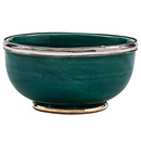 Silver edge ceramic bowl - 12 cm