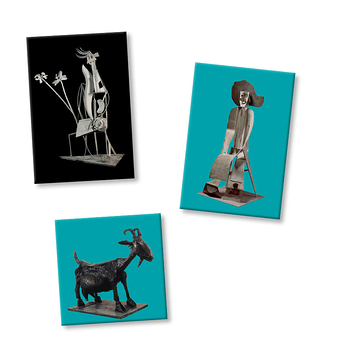 3 Magnets Picasso Sculptures