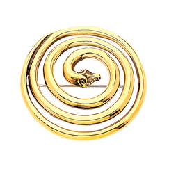 Broche Serpent enroulé