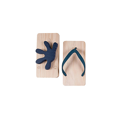 Ashiato Animal Footprint Sandals - Gecko