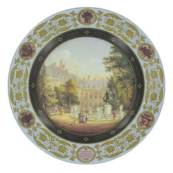 """Fountain of Diana"" Decorative plate"