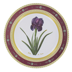 Joséphine Iris Decorative Plate
