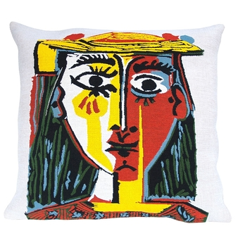 Housse de coussin Picasso Head of a woman with hat