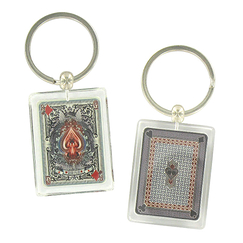 "Set of 2 ""Playing card"" Keyring"