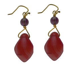 Egyptian amulet earrings