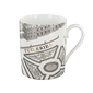 """Turgot Map of Paris"" Mug - Tuileries"