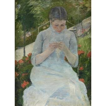 Jeune fille au jardin dit aussi femme cousant dans un for Dans un jardin boutique