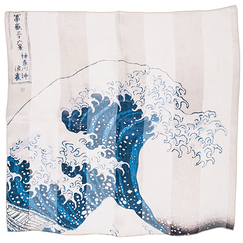 Pocket square - Hokusai - The wave