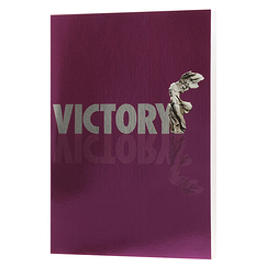 """Victory-Victoire"" Mirror Notebook"
