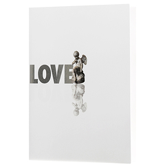 """Love-Amour"" Mirror Notebook"