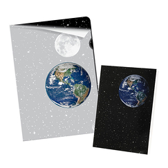 """Earth-Moon"" Stationery"