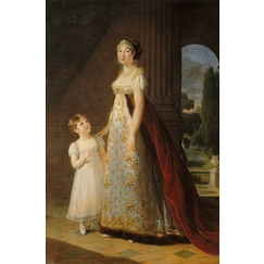 Caroline Bonaparte (1782-1839) and her eldest daughter Laetitia Josephine