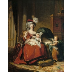 Marie-Antoinette de Lorraine-Habsbourg, Queen of France and her children