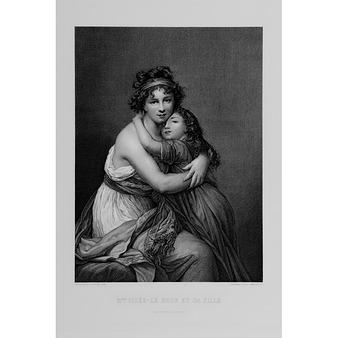 Connu Madame Vigée Le Brun et sa fille, Jeanne-Lucie, dite Julie (1780  ZI97