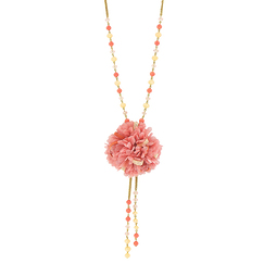 """Pink flower"" necklace"