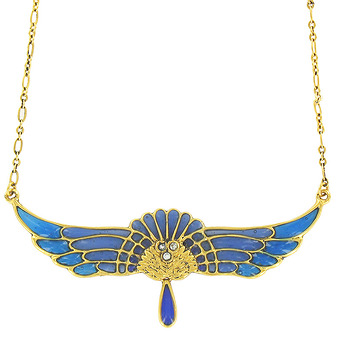 """Blue wing"" Necklace"
