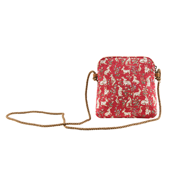 """Millefleurs"" Pouch with cordon"